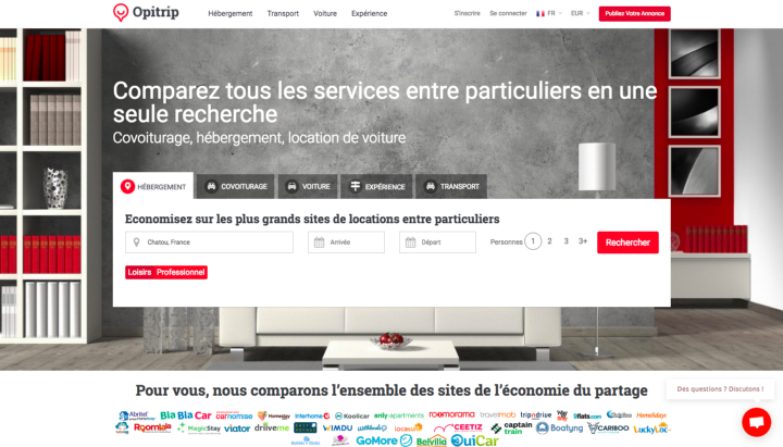 Opitrip — Le Google de l'économie collaborative